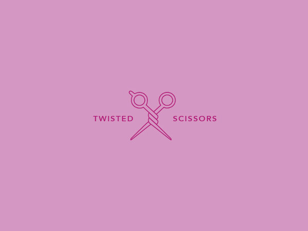 Free Twisted Scissors Logo Design for Insiration