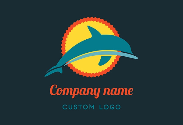 free vector dolphin logo