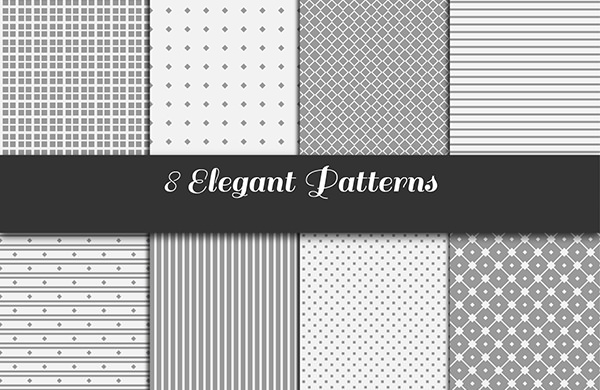 Free Vector Elegant Seamless Gray Patterns