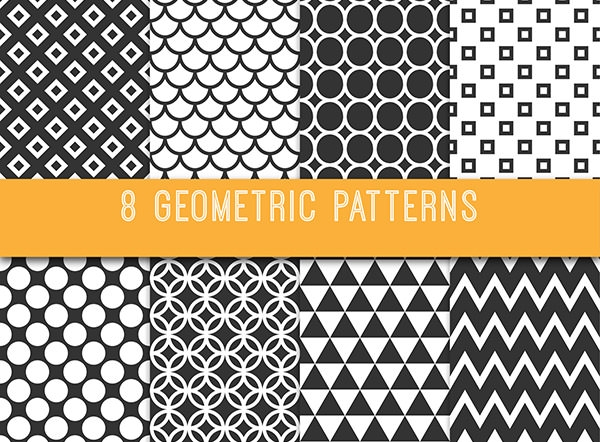 Free Vector High Res Geometric Patterns