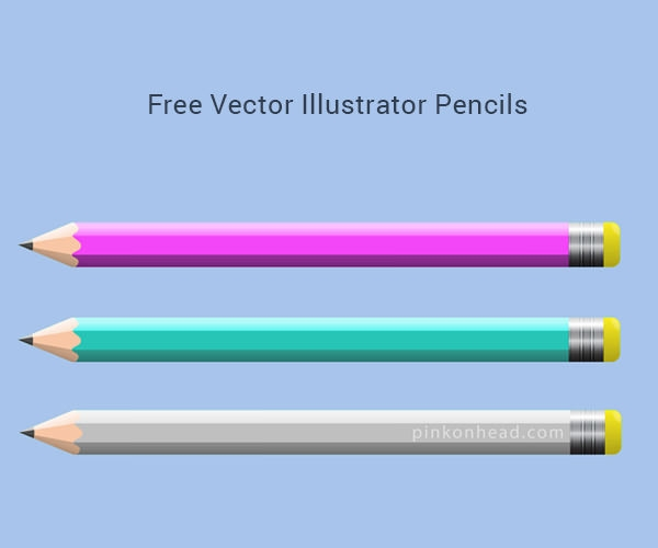Free-Vector-Illustrator-Pencils