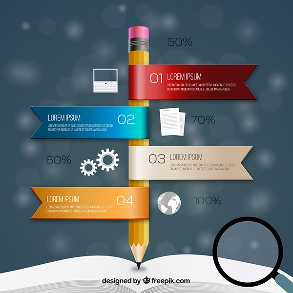 Free vector Pencil Infographic Elements