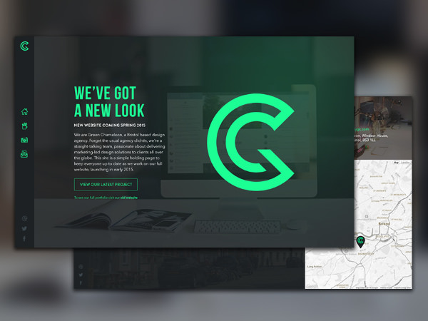 Green Chameleon Logo for Websites