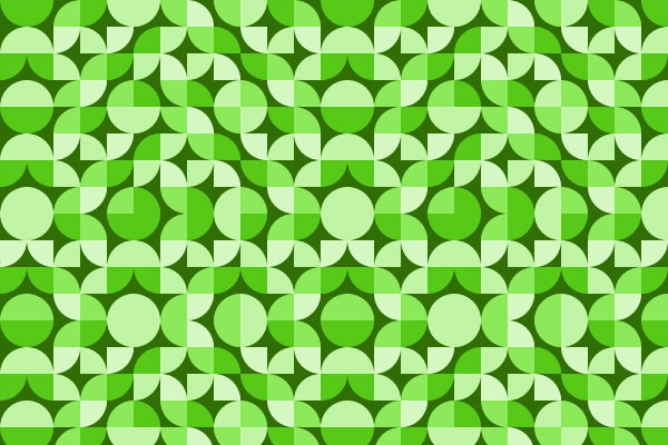 Green Deco Geometric Pattern