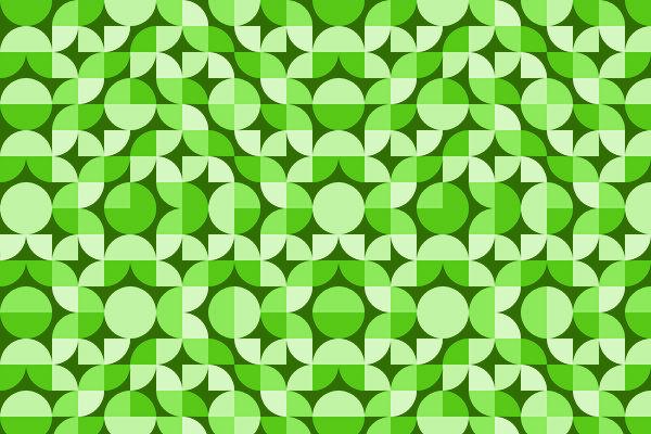Green Deco Geometric Pattern