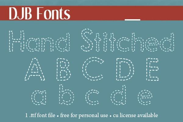 Hand Stitched Font