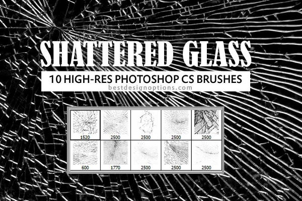 High Res Shattered Glass Brushes