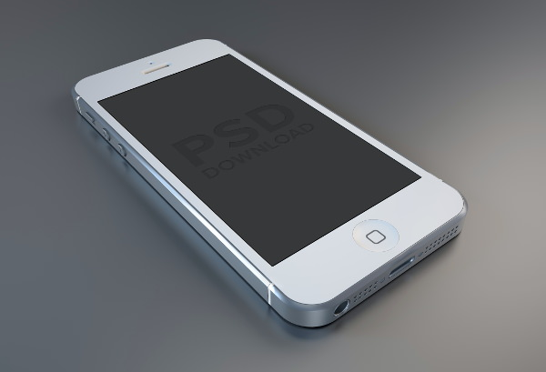 High Res iPhone 5 Mockup in Both White and Black Versions