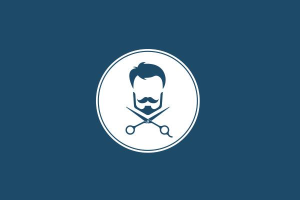 hispter style barbar logo deign