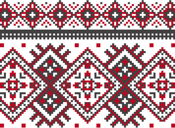 Knitted Pattern in Geometric Style