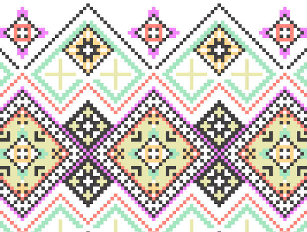 Knitted Seamless Pattern free Vector