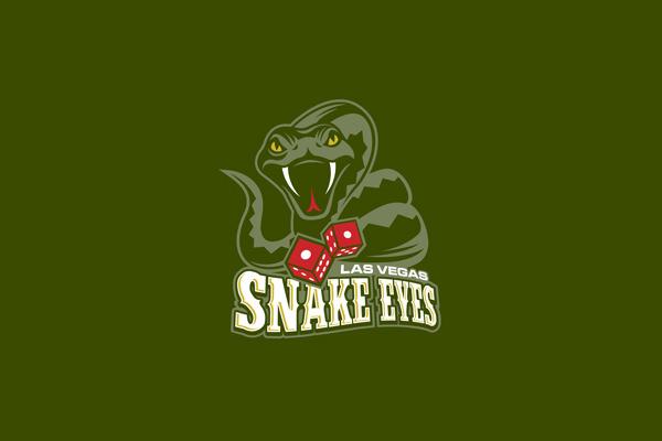 Las Vegas Snake Eyes Logo Design
