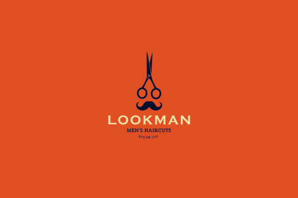 Look Man Men's Hair Cut Logo