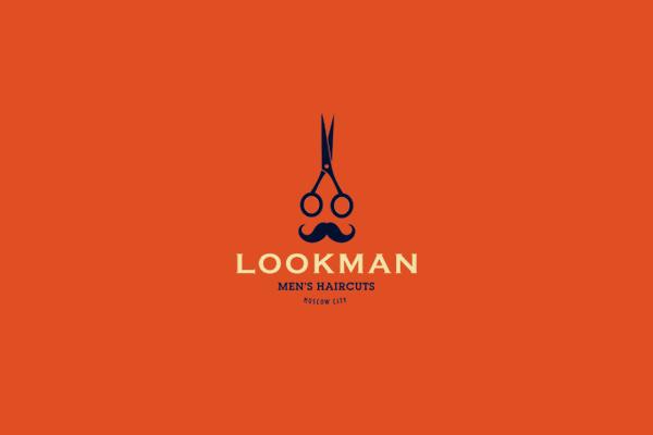look man mens hair cut logo