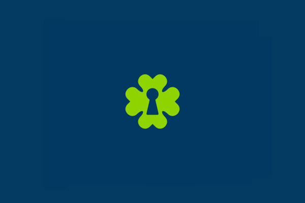 Luckey Clover Logo Design