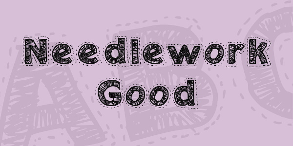NeedleWork Good Font