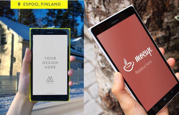 Nokia lumia Mockups