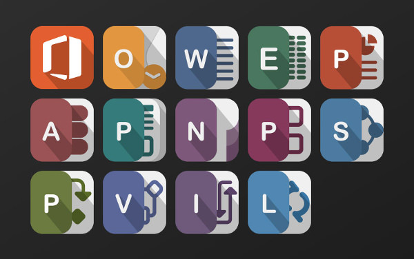 Office Urbanized Icons Set