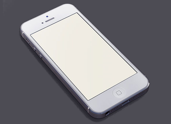 PSD White iPhone Mockup