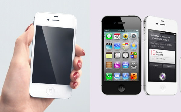 Photorealistic iPhone 4s mockups