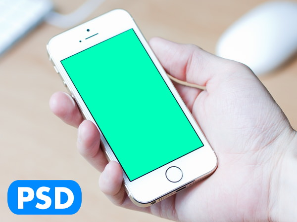 Photorealistic in Hand iPhone 5s mockup