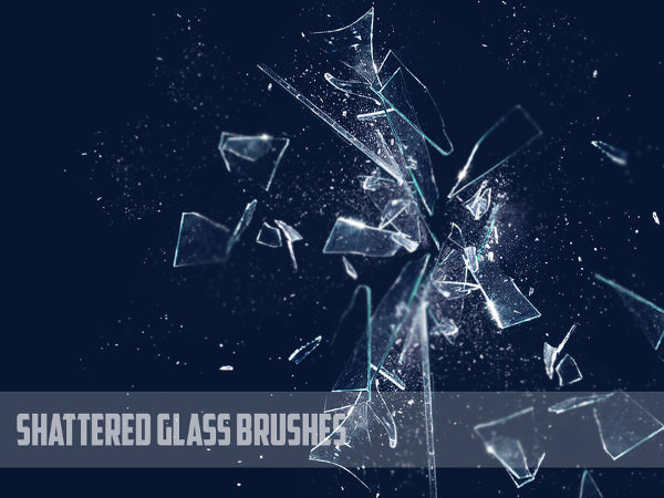 Photoshop Shattered Glass Bruhses Set