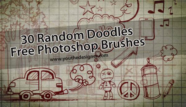 random doodle photoshop brushes