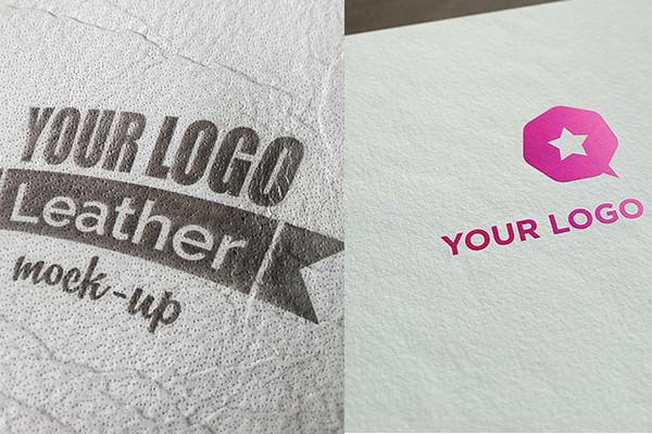 Realistic logo mockups