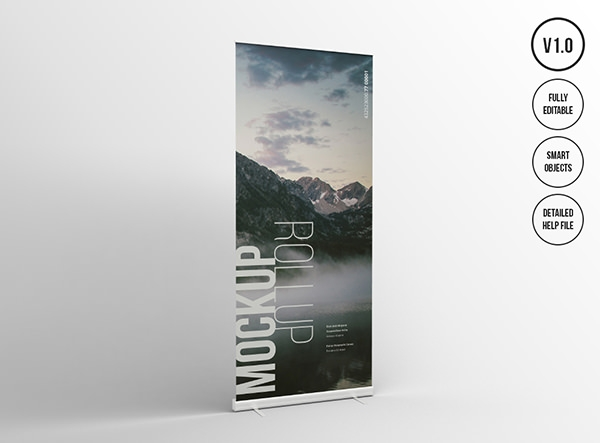 Roll Up Presentation banner Mockups