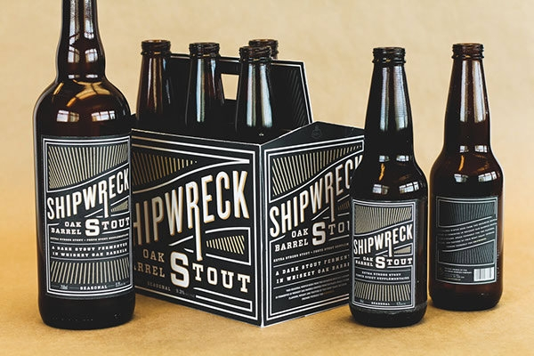 Shipwreck Oak Barrel Stout Label Logo