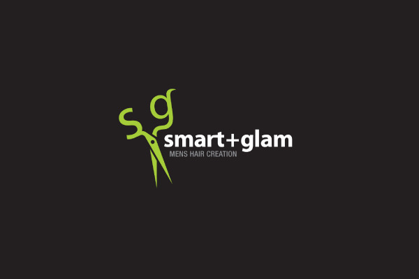 smart mens hair creation logo