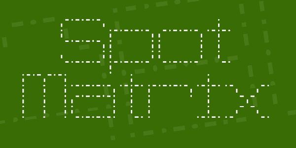 Spot Matrix Font