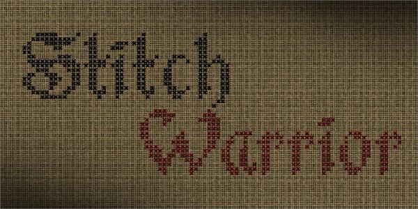Stitch Worrior Font