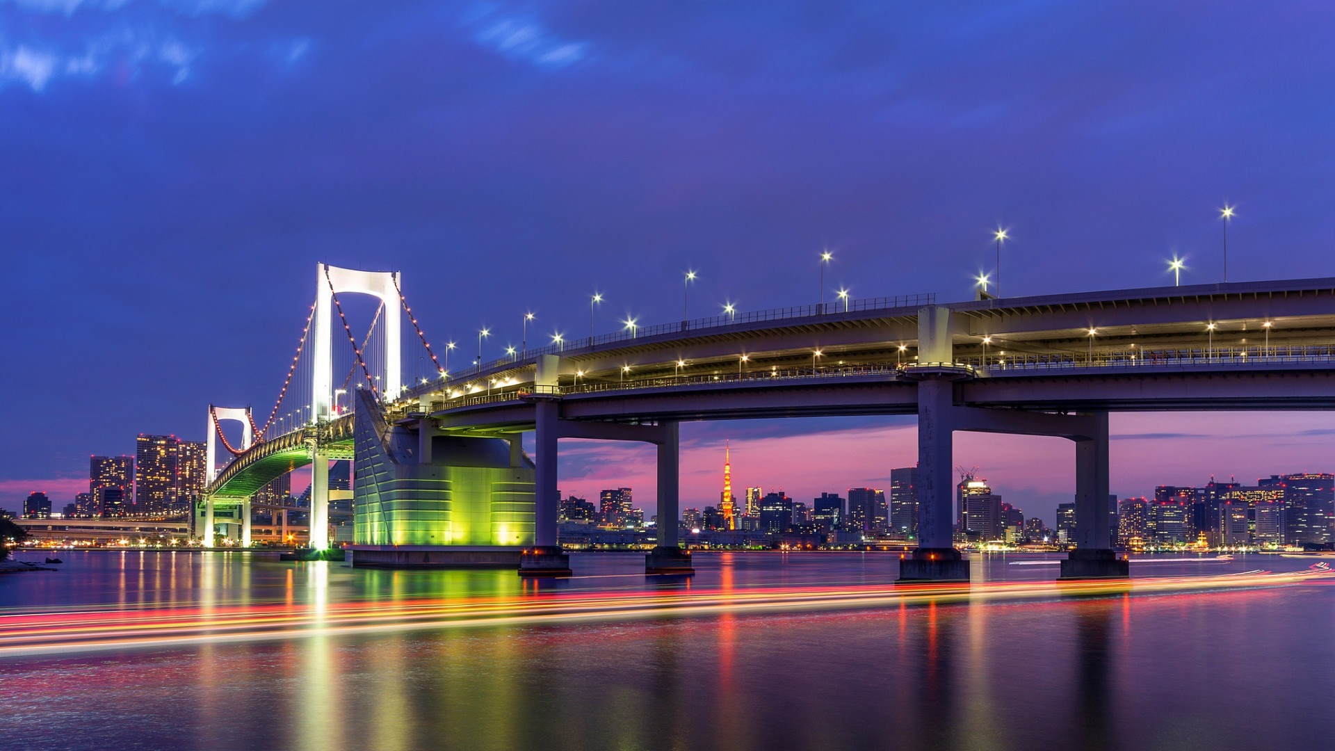 Tokyo Capital City Wallpaper with Colorful Lightings