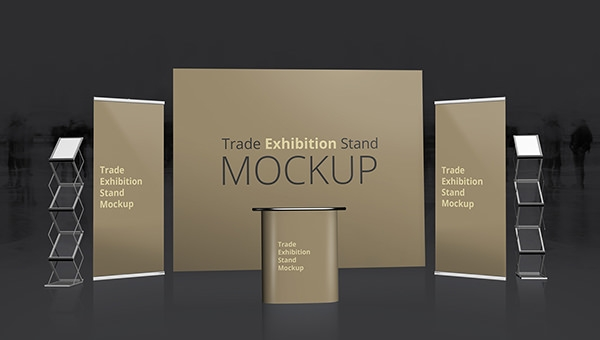 Exhibition Stall Mockup Psd : Free psd trade exhibition stand mockups freecreatives