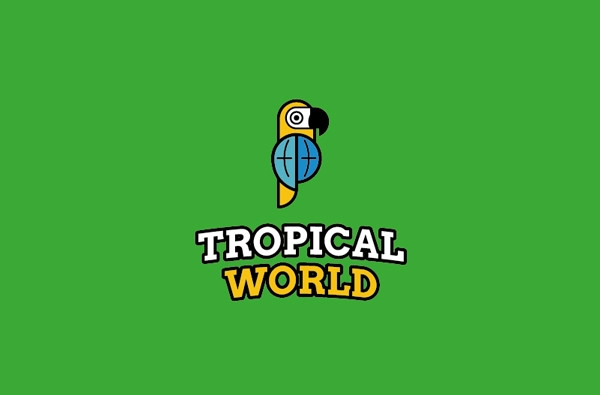 Tropical World Parrot Logo Design