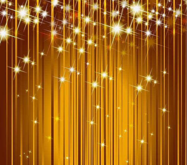 Vector Sparkling Golden Background
