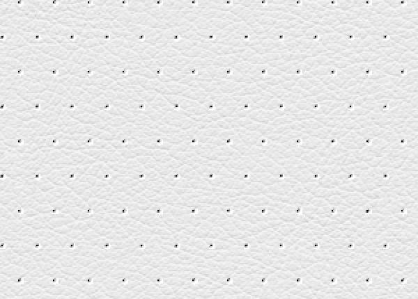 White Perforated Seamless Leather Pattern