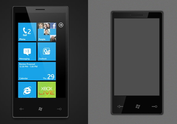 Windows phone mockup designs