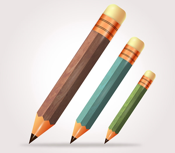 Wooden Pencil Collections Free vector