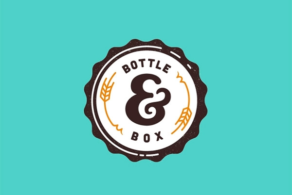 bottle and box Brand Logo