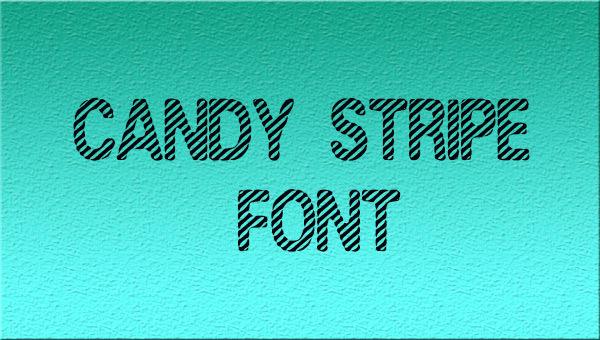 candy-stripe-font