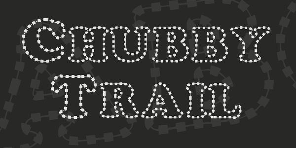 chubby-trail-font