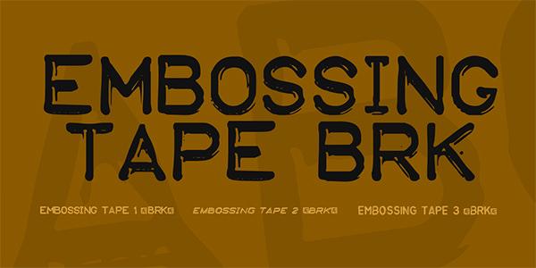 Embossing Tape BRK Font Family