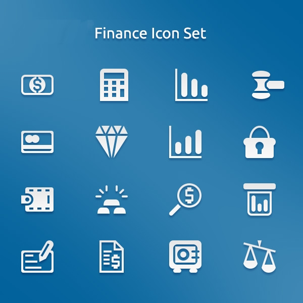 free-psd-finance-icons-set