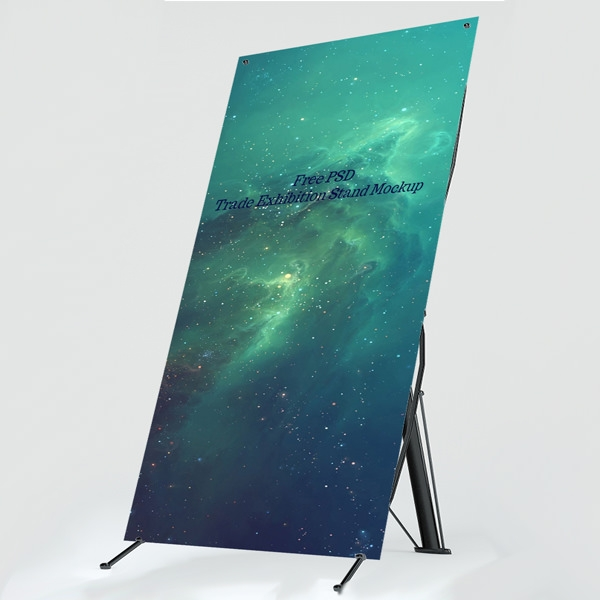 Free Pop Up Exhibition Stand Mockup : Free psd trade exhibition stand mockups freecreatives