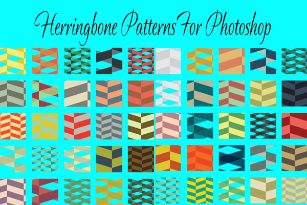 huge collection of free herringbone patterns for photoshop