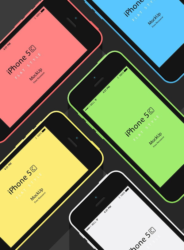 iPhone-5C-Flat-Design-Mockup