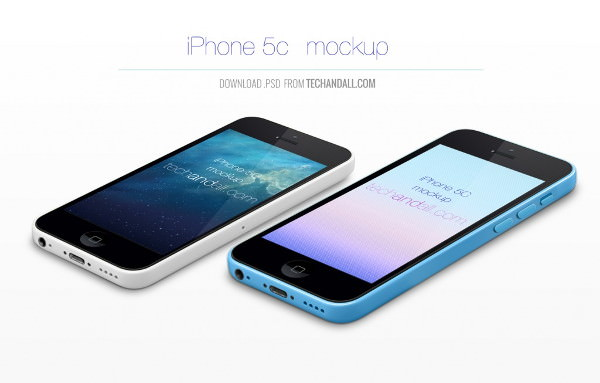 iPhone 5C Mockup PSD