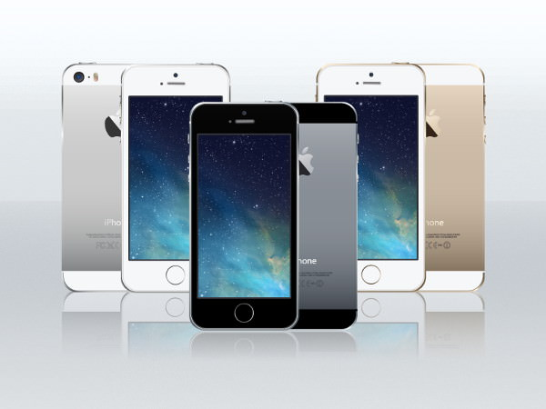 iPhone 5S Free Vector mockup design